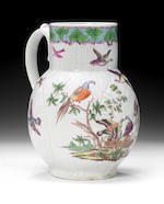 An important Worcester 'Dutch Jug' by I Rogers, circa 1757-58