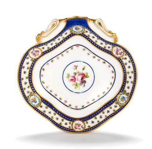 A Sèvres dish, circa 1790