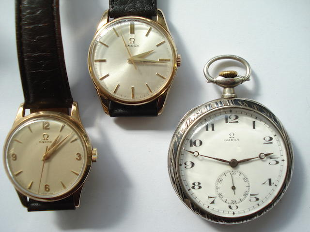 A lot of 2 Omega 9ct gold wristwatches and an Omega pocket watch