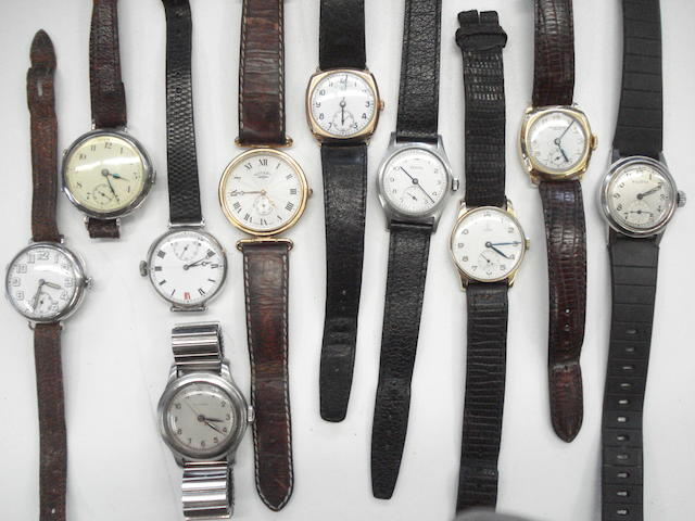 A lot of 11 various wristwatches