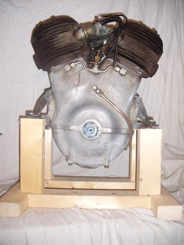 A 1922 Barr & Stroud 980cc WA9 sleeve valve v-twin engine,