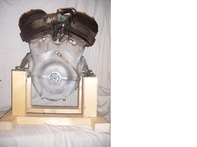 A 1922 Barr & Stroud 980cc sleeve valve v-twin engine,