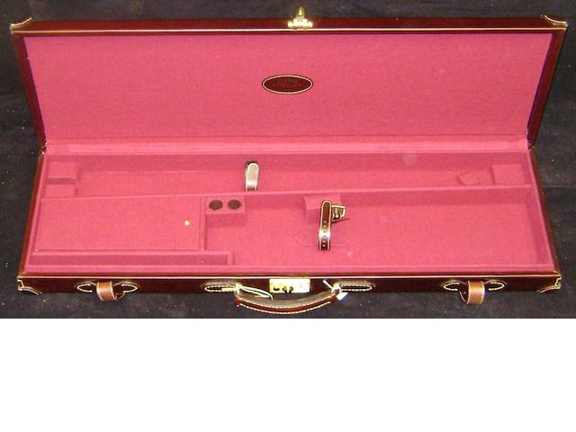 A Maremmano leather single-guncase