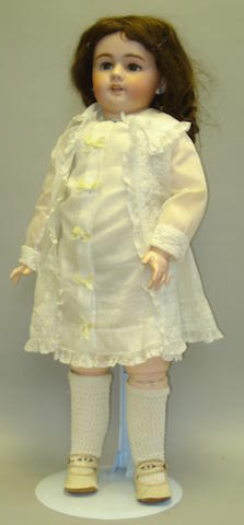 Large DEP Jumeau bisque head doll, size 14, German for the French market