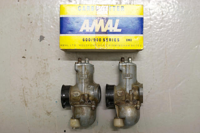 A boxed pair of Amal 930 monobloc carburettors, (2)