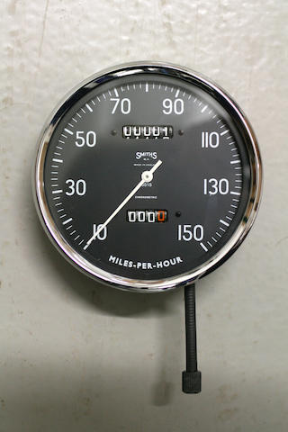 A Vincent Black Shoadow 150 mph Smiths speedometer, (1)