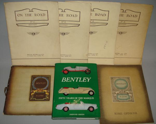 Two 3½ litre Bentley sales brochures, 1930's,