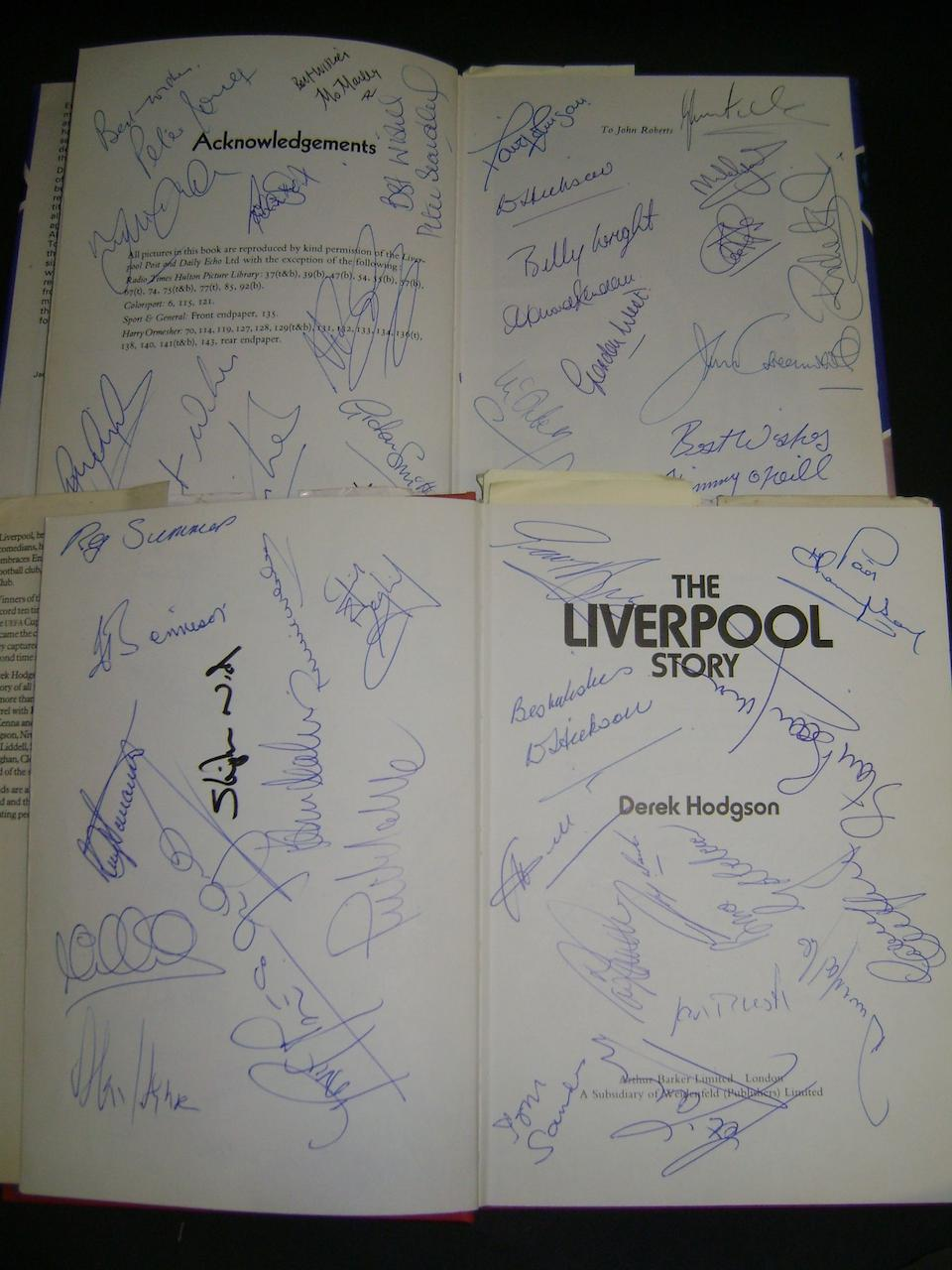 Liverpool/Everton profusely hand signed books