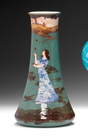 A Minton conical vase