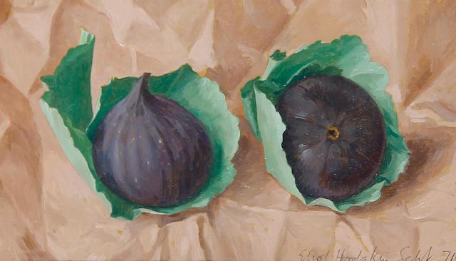 Eliot Hodgkin (British, 1905-1987) Two figs