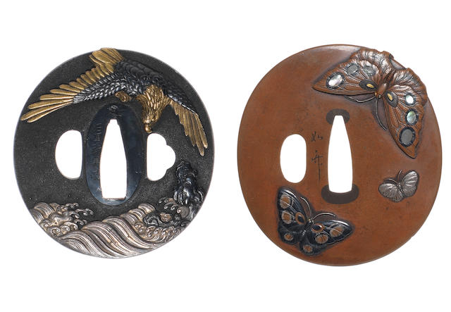 Two kinko tsuba Attributed to Murakami Jochiku and after Ishiguro Masayoshi, 19th century