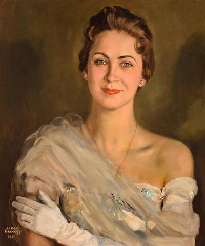 Serge Ivanoff (Russian, 1893-1983) Portrait of Elena Romanoff