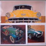 Five car prints,