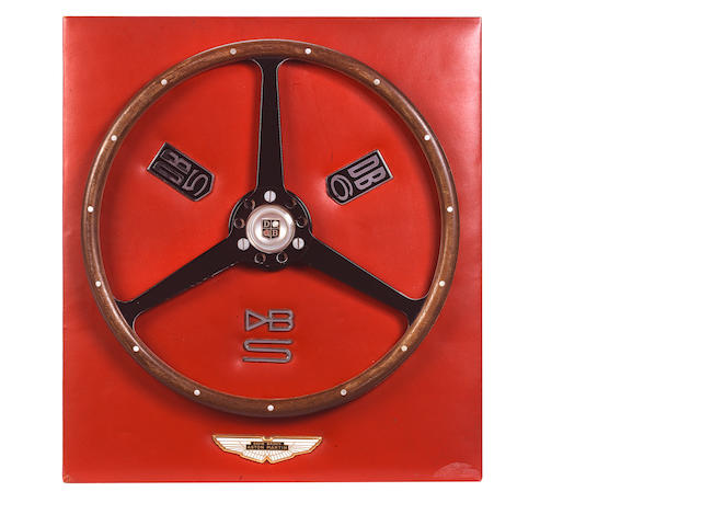 The 'James Bond 007 Goldfinger' steering wheel from the 1964 Aston Martin DB5 chassis number DP/216/1,