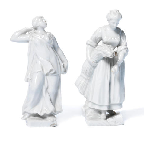 Two Doccia figures of women, circa 1760-80