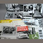 A lot of Lotus related ephemera and photographs,