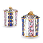 Two Sèvres large toilet pots and covers late 18th century