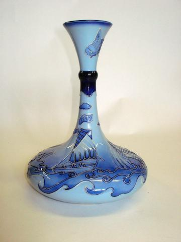 A Moorcroft florian yacht vase Dated 1998
