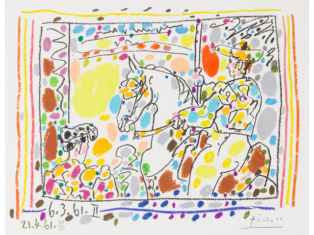 Pablo Picasso, Lithograph, Picador