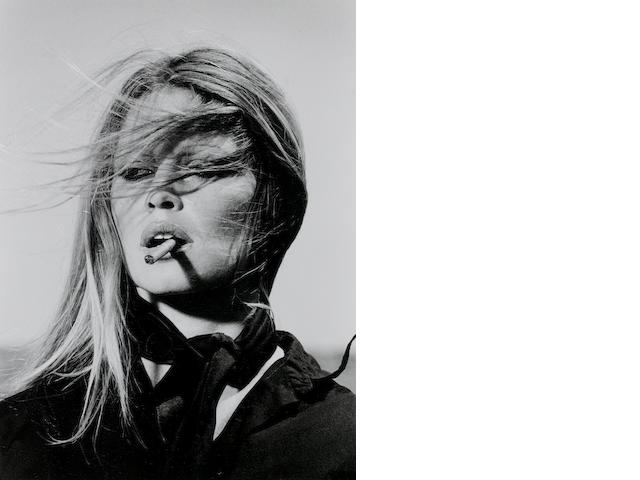 Terry O'Neill (British, born 1938) Bridget Bardot, 1971 Paper 50.5 x 40.1cm (19 7/8 x 15 3/4in), image 40 x 30.2cm (15 3/4 x 11 7/8in).