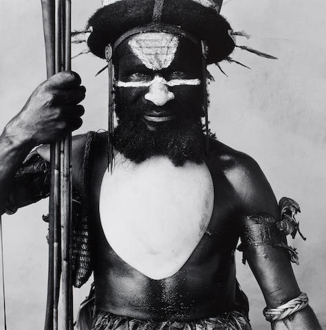 Irving Penn (American, 1917-2009) Tambul Ialibu Warrior, New Guinea, 1970 38.4 x 38cm (15 1/8 x 14 15/16in).