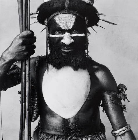 Irving Penn (American, 1917-2009) Tambul Ialibu Warrior, New Guinea, 1970