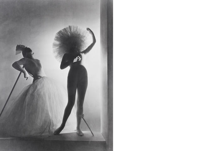 Horst P. Horst (German/American, 1906-1999) Costume Designs by Salvador Dali for his ballet Bacchanale, Paris, 1939 Paper 60.6 x 48cm (23 7/8 x 18 7/8in), image 55.7 x 41.6cm (21 15/16 x 16 3/8in).