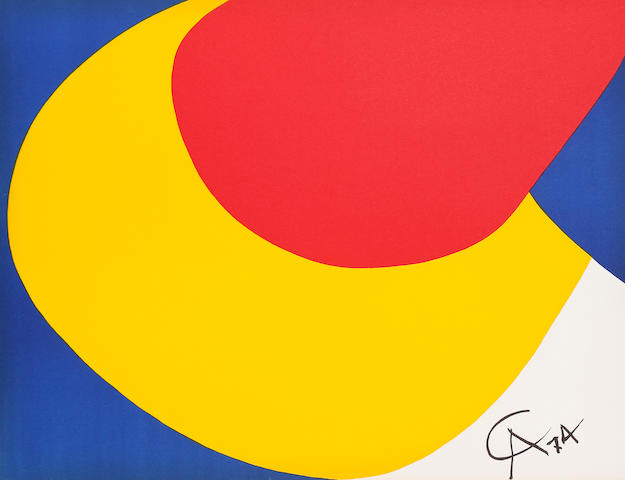 Alexander Calder (American, 1898-1976), Friendship, Skyswirl, Convection, Beastie. Friendship, Skyswirl, Convection, Beastie Four lithographs in colour, 1975, on wove, the full sheets printed to the edges, each 509 x 660 mm (20 x 26 in) (SH) (unframed) (4)
