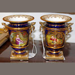 A pair of Flight, Barr and Barr Worcester beaker vases,