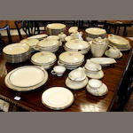 A Rosenthal porcelain cream and gilt part dinner service