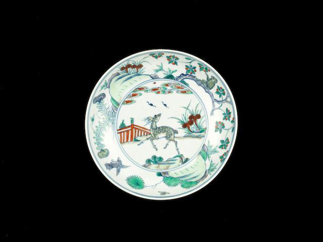 A rare doucai saucer dish Yongzheng six-character mark and of the period
