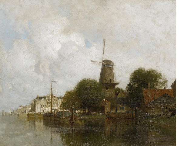 Johannes Christiaan Karel Klinkenberg (Dutch, 1852-1924) View of the river Amstel, Amsterdam