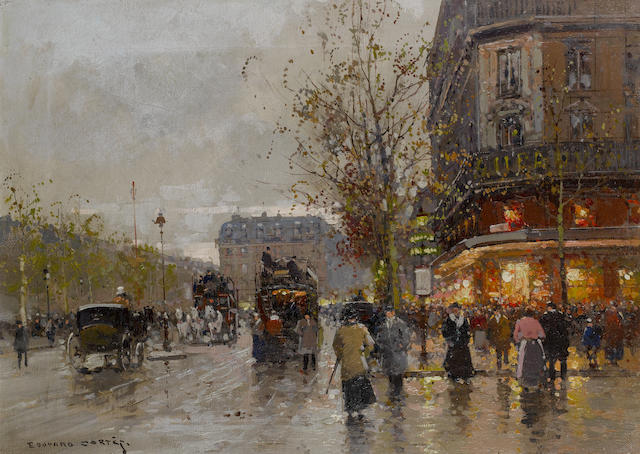 Edouard Henri Leon Cortès (French, 1882-1969) Place de la Republique, Paris
