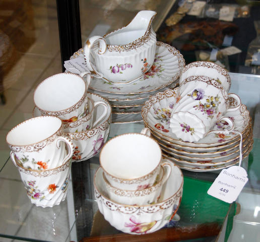 A Dresden part-tea service