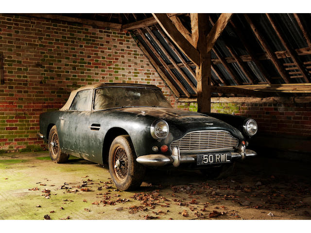 1963 Aston Martin DB4 Convertible  Chassis no. DB4C/1104/R Engine no. 370/472