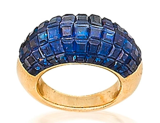 A sapphire ring, by Van Cleef & Arpels,