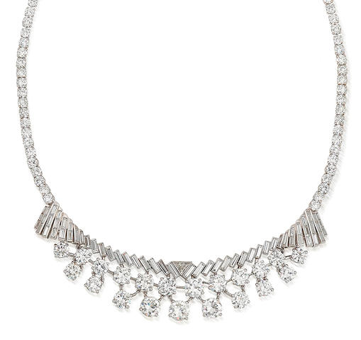 A diamond necklace, by Lacloche,