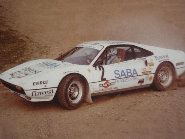 Spanish Championship-winning and Italian national vice-champion,1976/1983 Ferrari 308GTB Berlinetta Group B Michelotto  Chassis no. 18869 Engine no. 18869