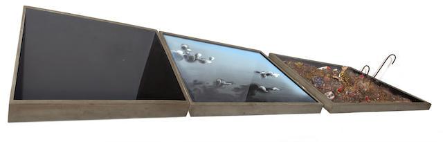 Costas Tsoclis (Greek, born 1930) Trou - ciel - ordures 120 x 426 x 14.5 cm.