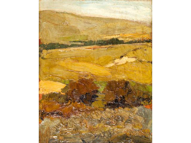 Nikolaos Lytras (Greek, 1883-1927) Landscape 54 x 42.5 cm.