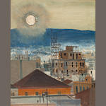 Spyros Vassiliou (Greek, 1902/3-1984) The constantly changing view, Athens 98 x 78 cm.