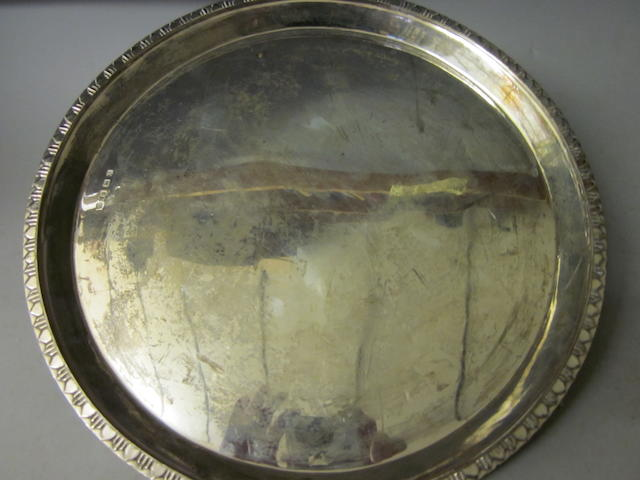 A circular salver,  Sheffield 1943,