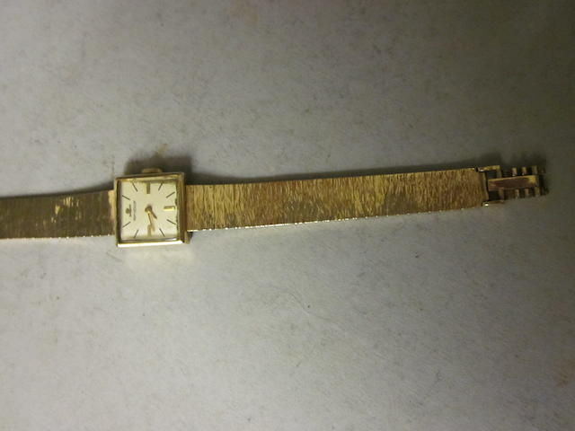 Jaeger-le-Coultre: A 9 carat gold bracelet watch,