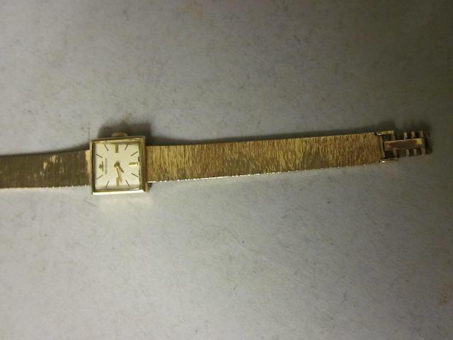 Jaeger-le-Coultre: A 9 carat gold bracelet watch,