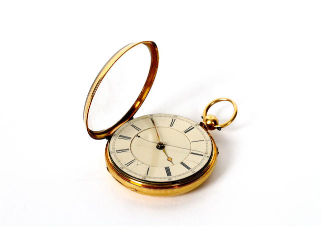 A late Victorian 18 carat gold pocket watch