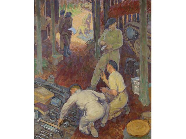 Henry Lamb (British, 1883-1960) Tank crew