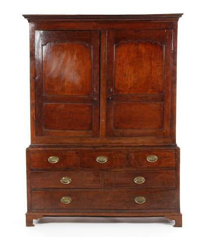 A George III oak livery cupboard Welsh