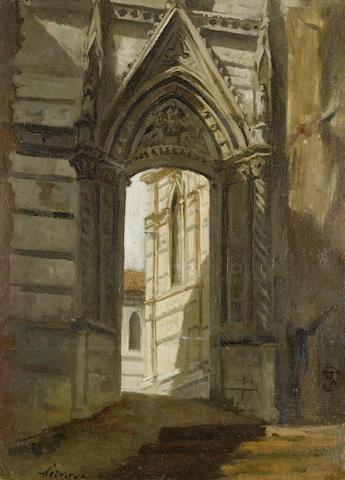 Telemaco Signorini (Italian, 1835-1899) Duomo di Siena
