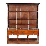 A late George III oak high dresser South Wales