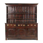 A George II oak high dresser